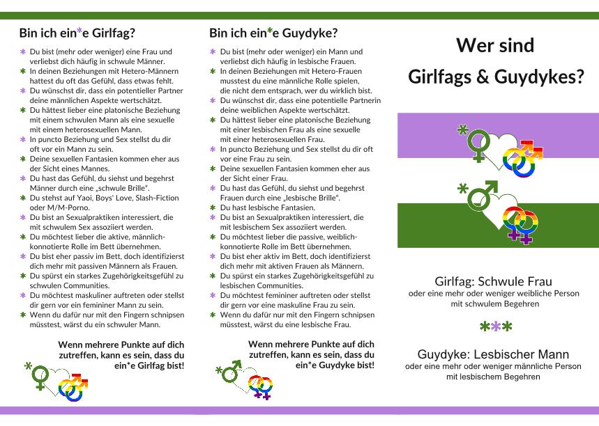 GF/GD, Stammtisch-Falzflyer